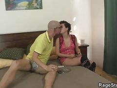 Rough deep throat and hardcore cock riding