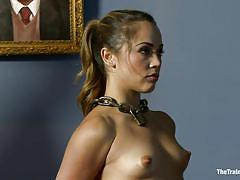 milf, bondage, bdsm, hanging, domination, fingering, brunette, tied up, ropes, chain collar, shibari, kristina rose, maestro stefanos, the training of o, kinky dollars