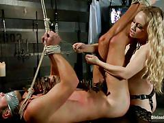 milf, blonde, anal, femdom, bondage, bdsm, strapon, torture, mistress, tied up, scotch tape, mummification, aiden starr, mike de marko, divine bitches, kinky dollars
