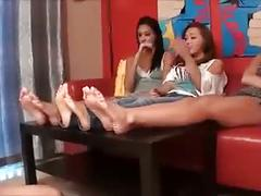Lesbian smelly feet challenge