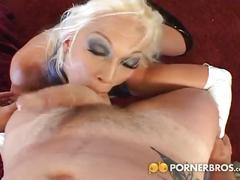 Busty blonde slut gets dped hard!