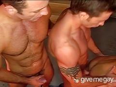 Anal slamming latinos outdoor threesome