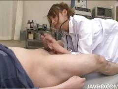 Horny nurse ebihara blows patient