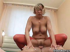 Mature mommas milly and romana fucking young
