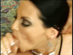 Horny brunette whore group fucked
