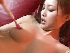 Slutty japanese suzuka ishikawa toying hairy pussy