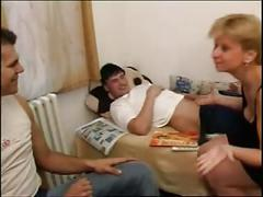 Russian mature and 2 guys