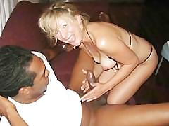 My blonde nympho wife loves big black cock!