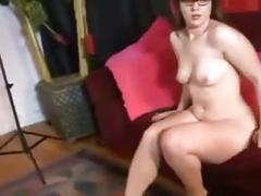 Thick  ass sexy brunette with glasses