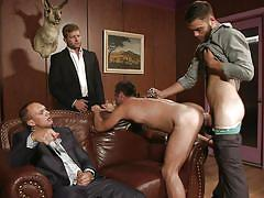 from behind, sex slave, gay blowjob, gay anal, naked gay, on leash, jizz orgy, men, mike de marko, colby jansen, tommy defendi, john magnum