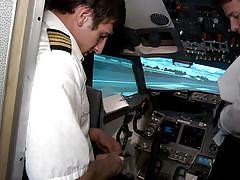 British airplane pilots fucking in the air