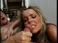 Stunning young blonde in high heels gets her perfect ass filled with big dick