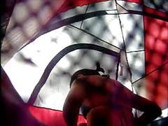 Changing tent voyeur