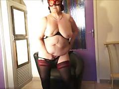 Brenda - striptease masturbation & ridiculous slave...