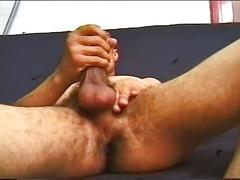 Latino help masturbating at work