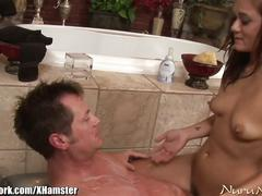 Nurunetwork cece stone bathtub massage and fuck
