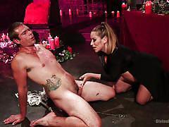 milf, blonde, femdom, spanking, torture, pregnant, sexy lingerie, candle wax, starp on, divine bitches, kink, john jammen, bella wilde
