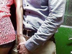Slutty teens got naughty in the elevator