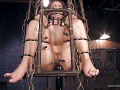 milf, bdsm, hairy, torture, vibrator, clothespins, bondage cage, device bondage, device bondage, kink, kristina rose, orlando