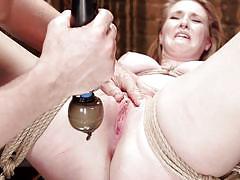 bdsm, spanking, babe, tied, vibrator, sex toys, clit rubbing, rope bondage, hogtied, kink, ashley lane