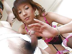 Japanese chick dominates her man