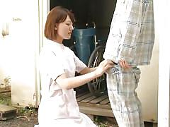 milf, handjob, asian, nurse, uniform, blowjob, patient, brown haired, jp nurse, idol bucks