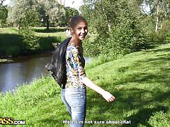 small tits, blonde, babe, russian, amateur, outside, blowjob, park, pov, public place, tit flash, megan x, artyom, private sex tapes, wtf bucks