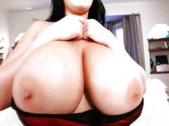 milf, solo, costume, busty, huge tits, christmas, brunette, natural tits, teasing, bra, bbw babe, pinup, leanne crow, pinup files, pinup dollars