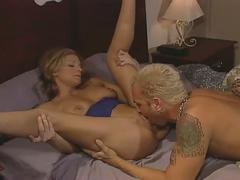 Sweet blonde gets her pussy eaten