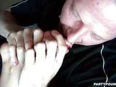 Group pussy licking and dick sucking