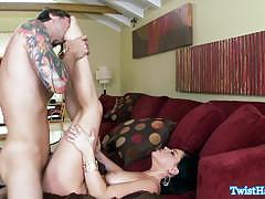 Sexy babe belle noire gets fucked and facialized.