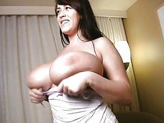 Busty babe revealing her natural big tits