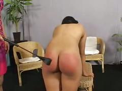 Anca's spanking nude brunette xlx