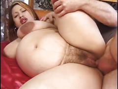 Pregnant asian slut loves dick