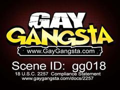 Threesome black gay fucking at night