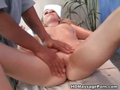 Awesome full body massage and pussy pounding
