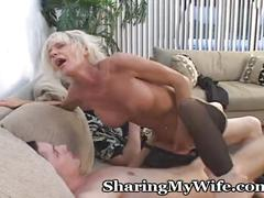 cumshot, blonde, milf, blowjob, homemade, wife, vibrator, older, missionary, doggie, cougar, oldyoung