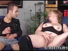 German threesome with 2 guys and a chubby amateur babe
