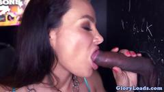 Glory hole big tits milf interracial sex