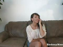 Slim milf alia janine big tits gets a facial from rodney moore