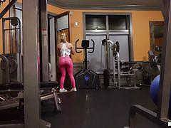 Checking out the gym freak
