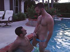 outdoor, deepthroat, gay sex, gay handjob, swimming area, gay, in water, big dicks at school, men, angel rock, dalton pierce