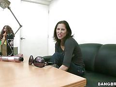 Lonely milf interrupted while masturbating