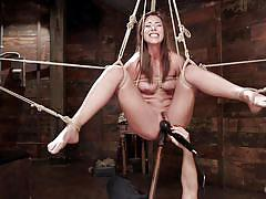 bdsm, hairy, spanking, babe, hanging, tied, fetish, sex toys, rope bondage, hogtied, kink, rilynn rae