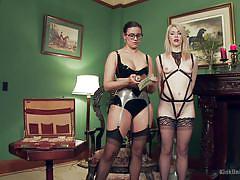 milf, blonde, lesbians, babe, high heels, domination, stockings, sexy lingerie, workshop, kink university, kink, penny barber, ella nova