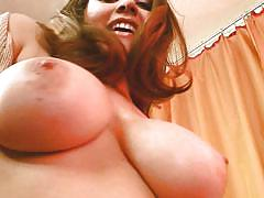 Horny milf showing her nice big tits