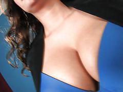 milf, high heels, brunette, undressing, natural boobs, curly hair, perfect body, big breasts, squeezing boobs, pinup, amber campisi, pinup files, pinup dollars
