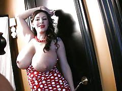 Brunette chick september carrino showing tits