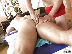 Hot gay massage with anal fingering and blowjob