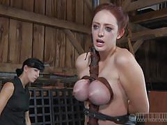 Three whores in a barn
